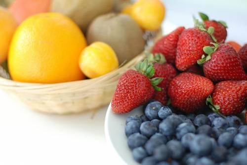 Fresh vegetables and berries