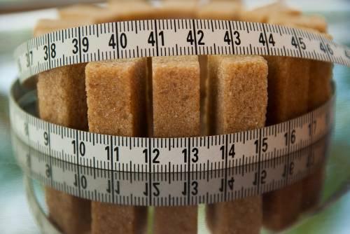 Sugar and measuring tape