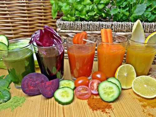 Benefits of fruit and vegetable juice diet