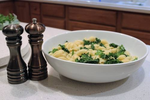 Dish with kale