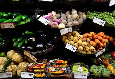 Vegetable market and plant-based diet