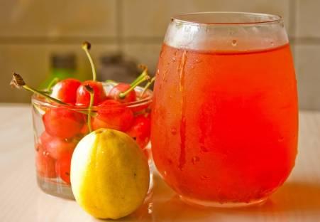 Cherry, lemon and cherry juice