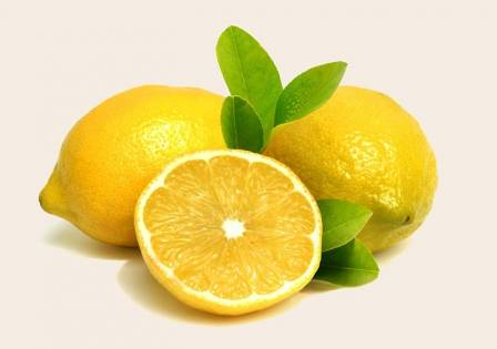 Lemon and lemon leaves