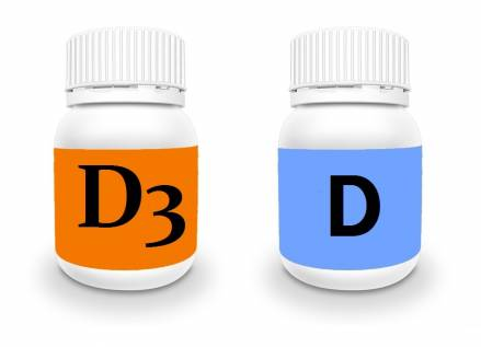 Difference between vitamin d and vitamin d3