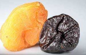 Dried apricot and dried plum