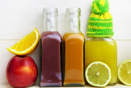 Fruit juices with fruits