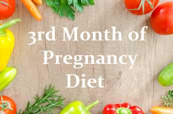 Diet for 3 months pregnant woman