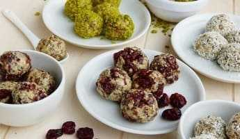 Energy balls from almonds, berries and nuts