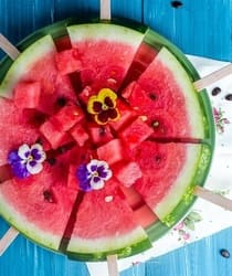 A ripe watermelon