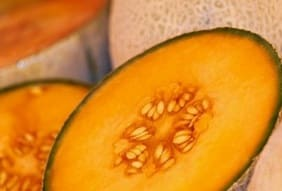 A piece of melon